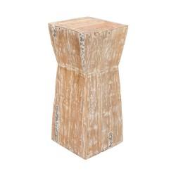Taburete pedestal madera