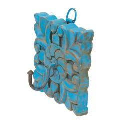 Percha de madera azul