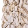 Percha de madera blanca