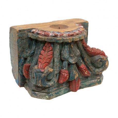 Portavelas columna de madera gigante
