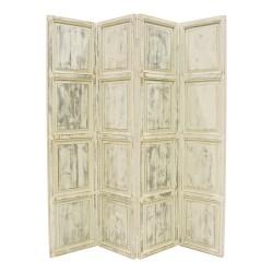 Biombo puerta de madera color beige