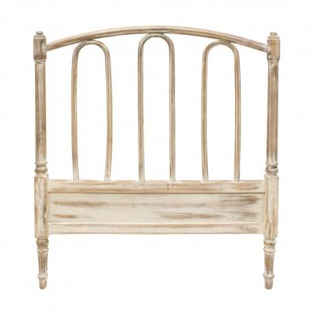 Cabecero de madera con acabado en blanco