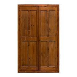 Puerta antigua de 2 hojas con 8 cuarterones