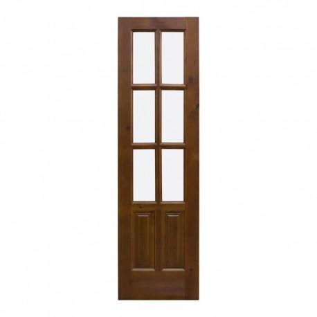 Puerta de paso en madera con palillería