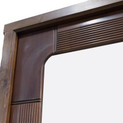 Puerta de paso de madera con cristalera