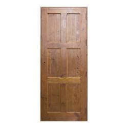 Puerta de madera de paso con cuarterones en cruz