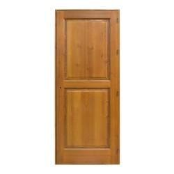 Puerta de interior de madera con talla a una cara