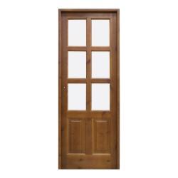 Puerta de madera de interior con palillería