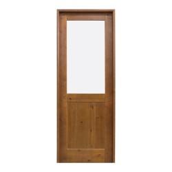 Puerta de madera interior con cristalera