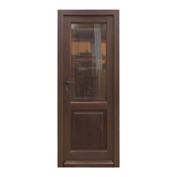 Puerta de madera de exterior con cristal