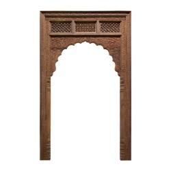 Portada de madera india tallada