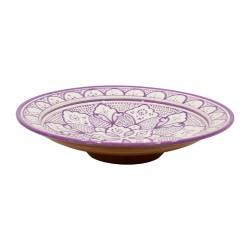 Plato de cerámica esmaltada color morado