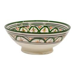 Cuenco de cerámica verde
