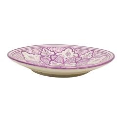Plato de cerámica color morado