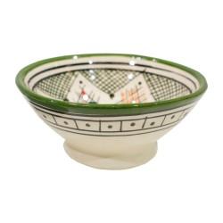 Cuenco de cerámica esmaltada verde