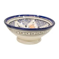 Cuenco de cerámica esmaltado azul