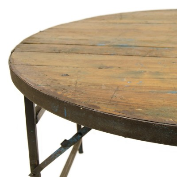 Mesa comedor redonda plegable