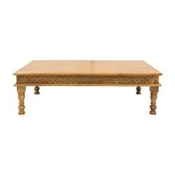 Mesa de centro de madera tallada