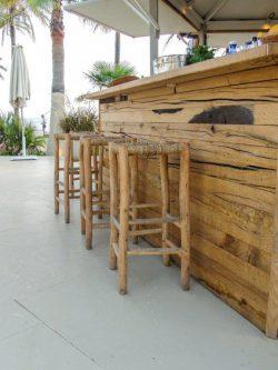 Detalle barra a medida madera