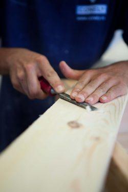 Detalle trabajo madera
