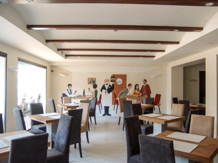 Salón vigas de madera
