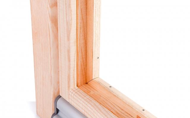 estructura ventana en madera