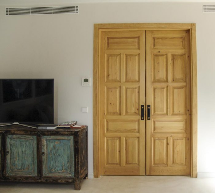 puerta corredera rustica