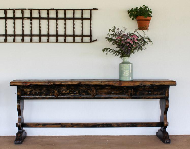 Aparador entrada de madera estilo vintage