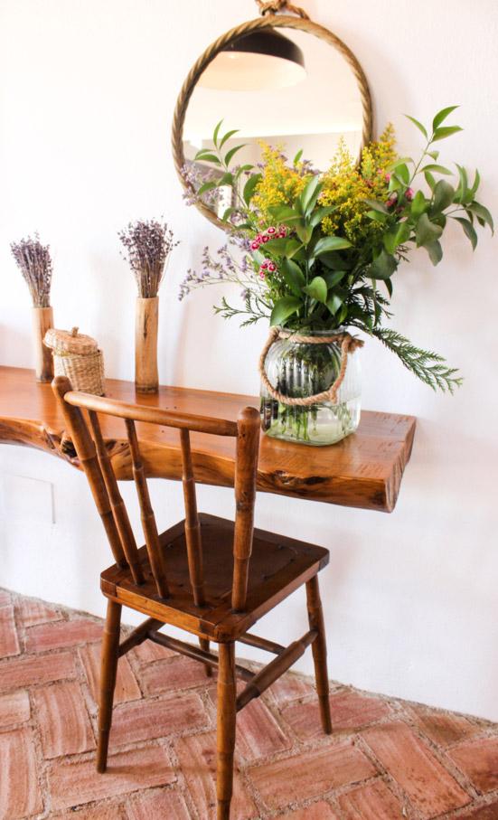 Barra de madera silla