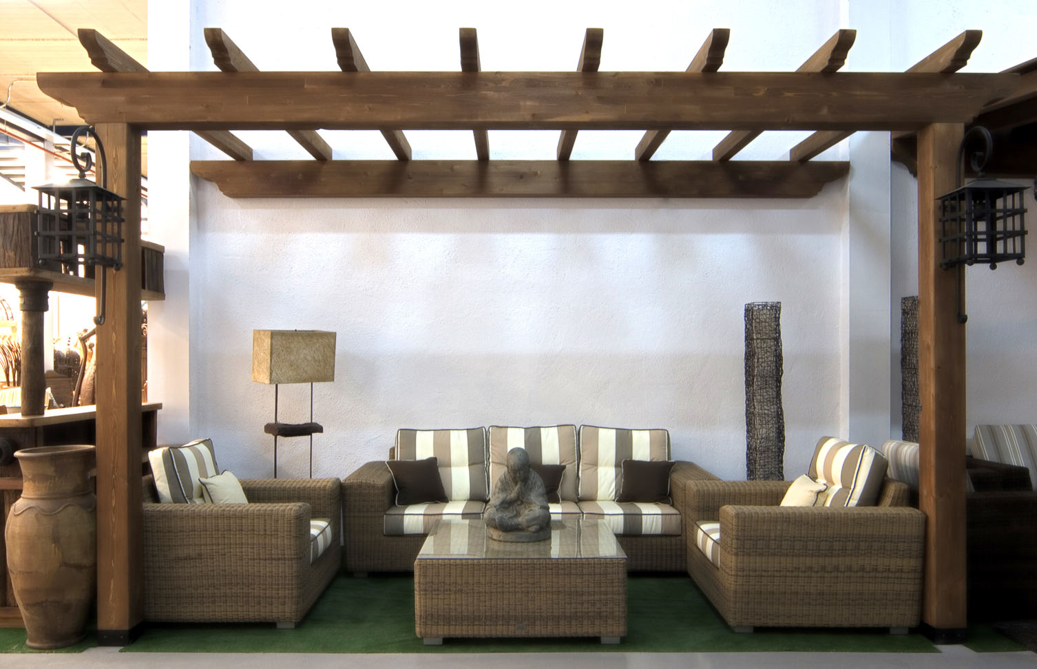 Estructura de madera exterior