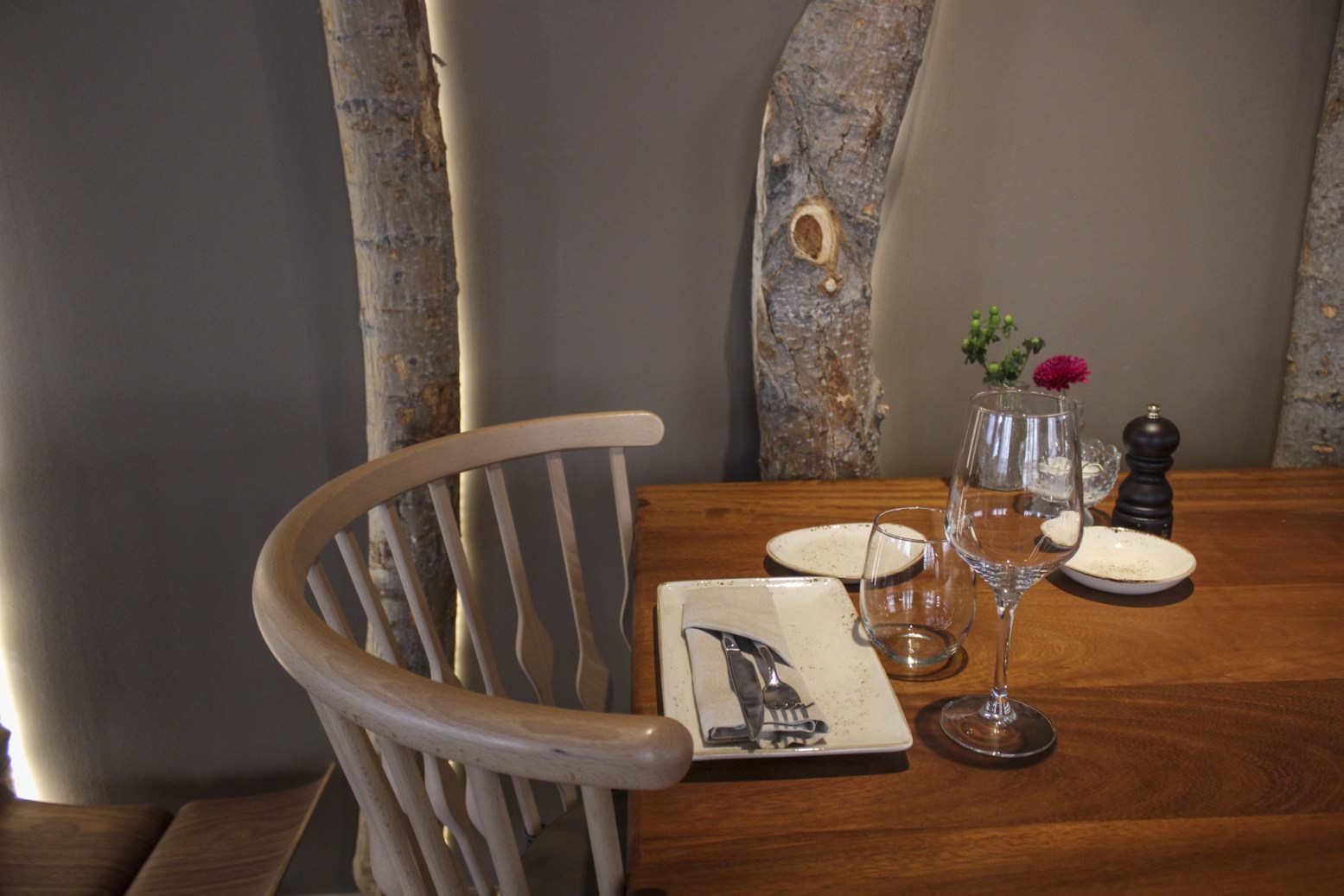 Mesa de comedor restaurante