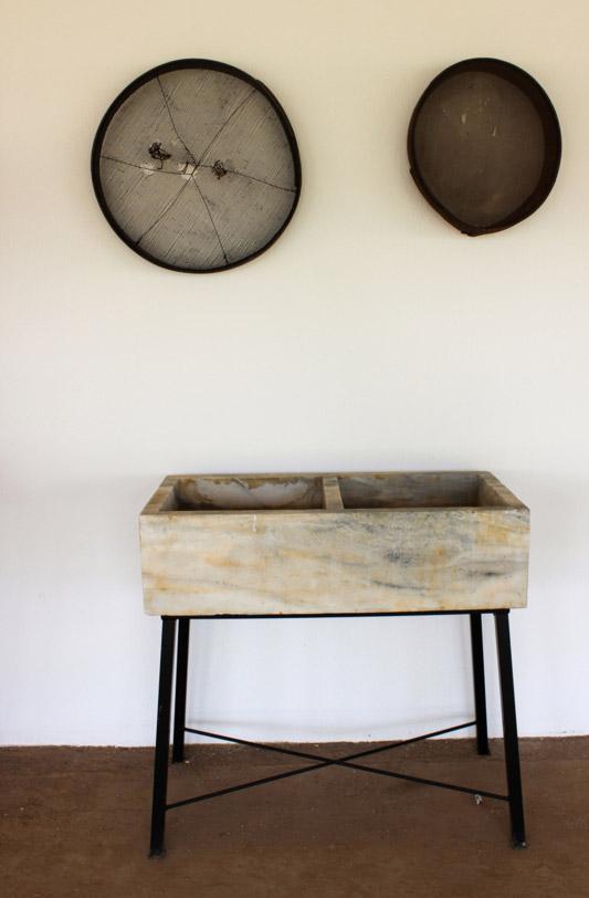 Fregadero de mármol decoración exterior