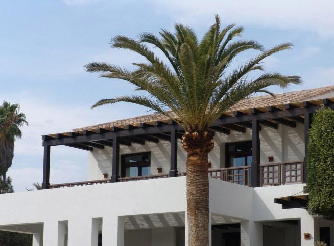 Terraza residencia vacacional