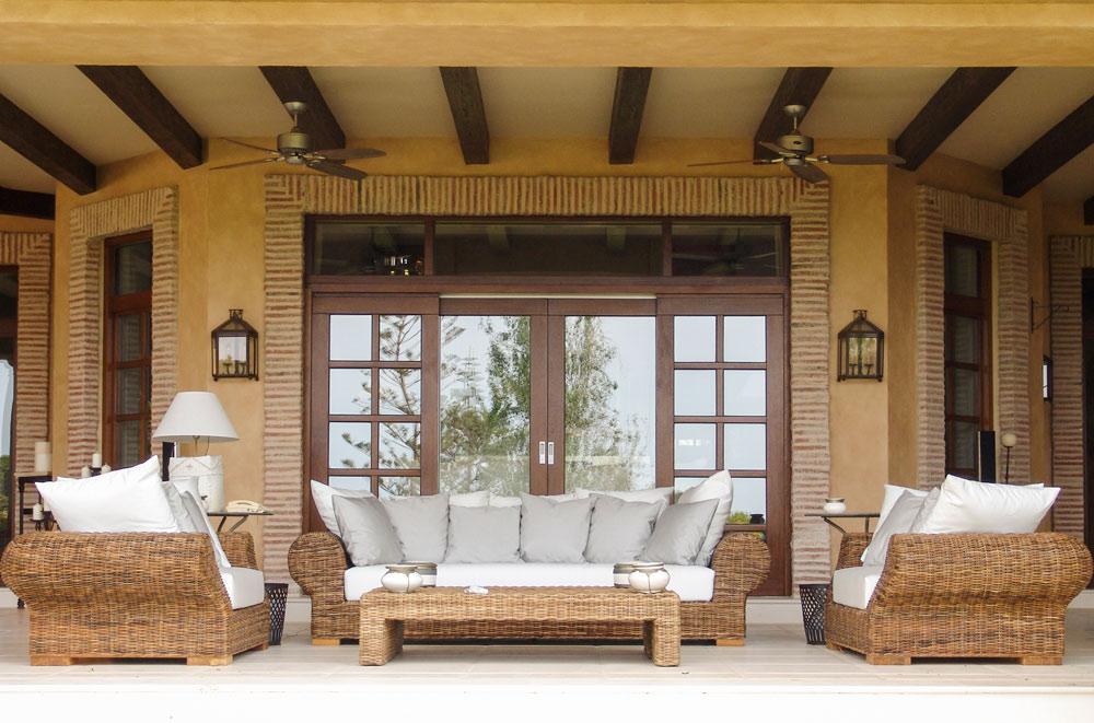 Ventana patio madera