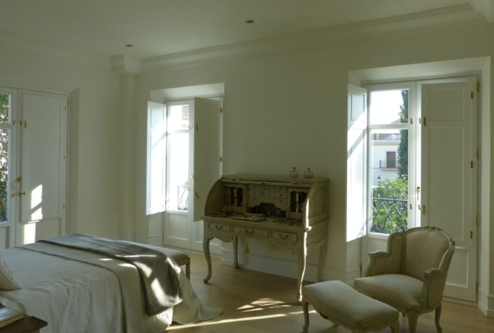 Ventanas balcones madera blancos