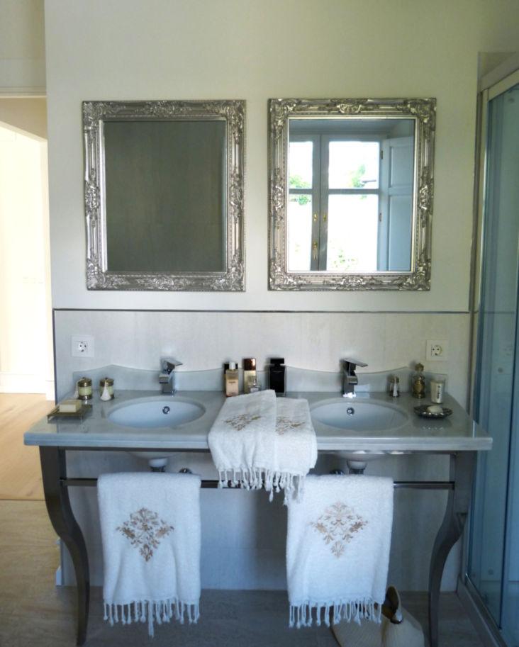Baño encimera de mármol