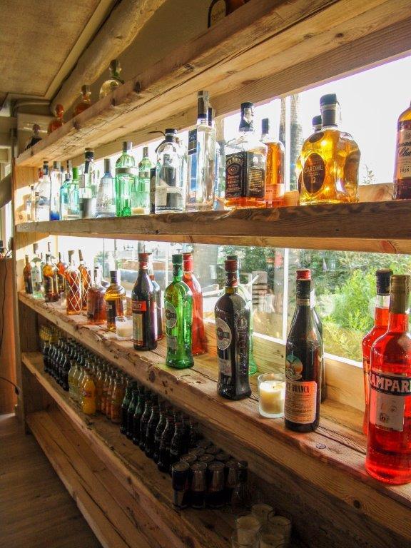 Barra de bar estilo tropical