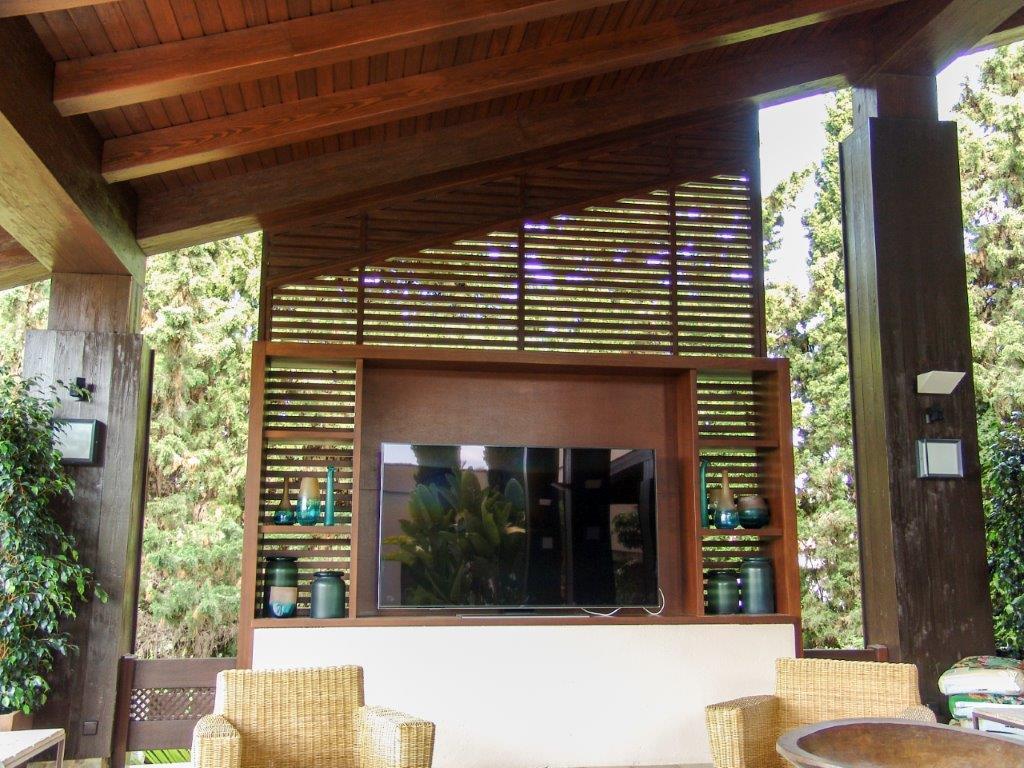 Carpintería de madera para exteriores