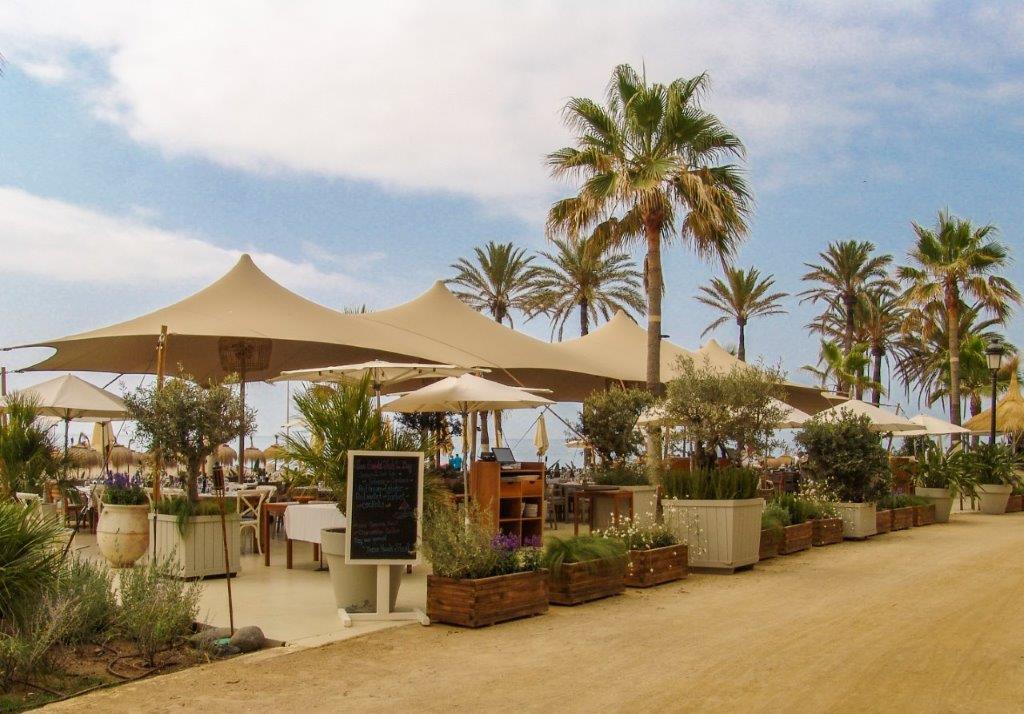 Decoración terraza estilo tropical