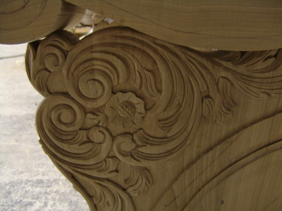 Detalle de madera tallada