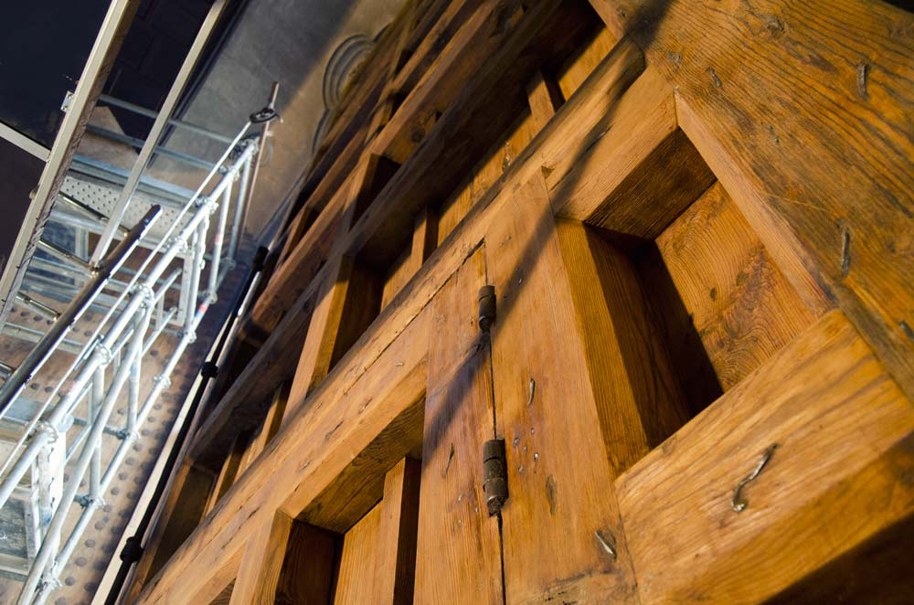 Detalle trabajo restauración Catedral