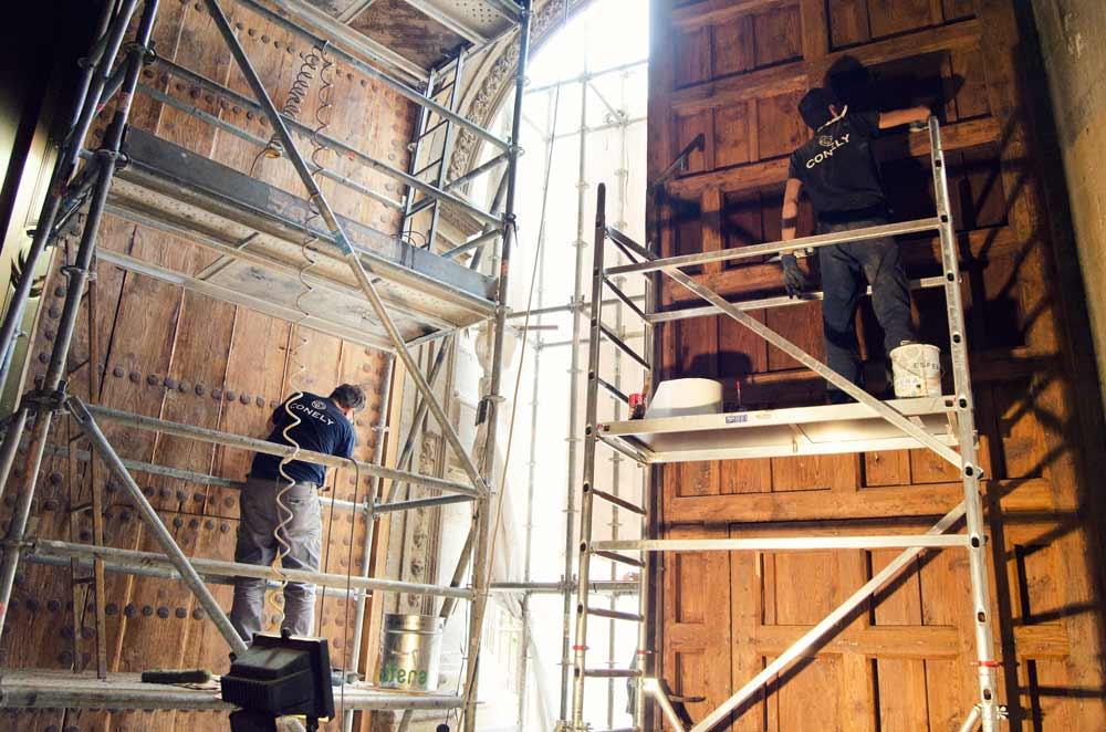 Trabajos restauración Catedral de Granada