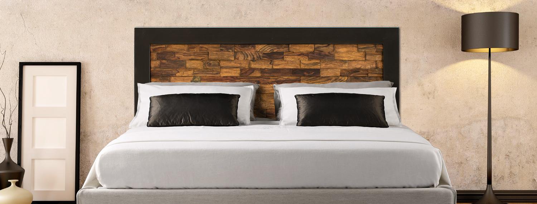 Portada cabecero madera dormitorio
