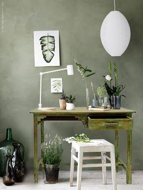 Decorar con muebles antiguos: Decoración vintage escritorio