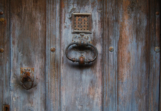 Portada puertas de madera