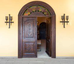 Puerta doble hoja madera