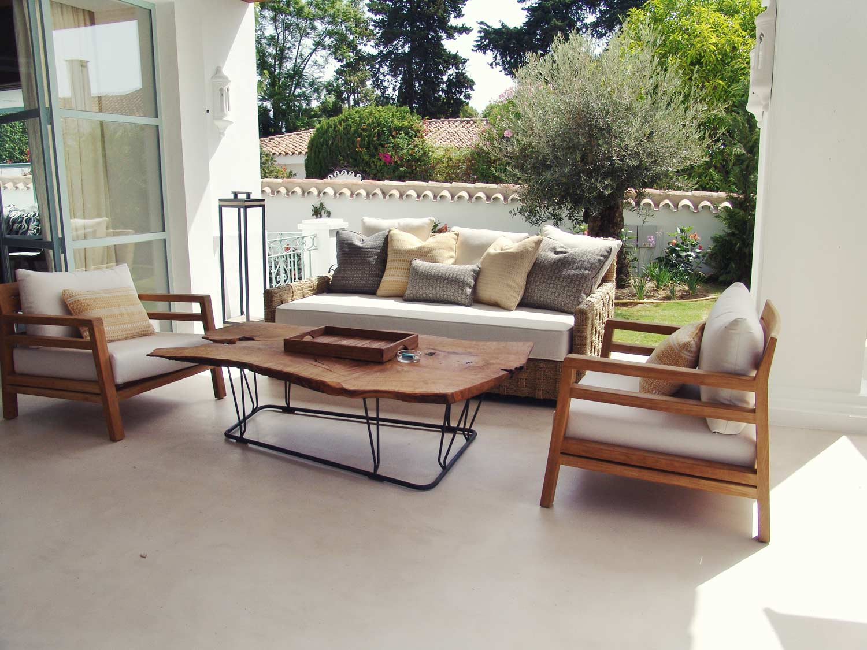 Decoración mobiliario exterior