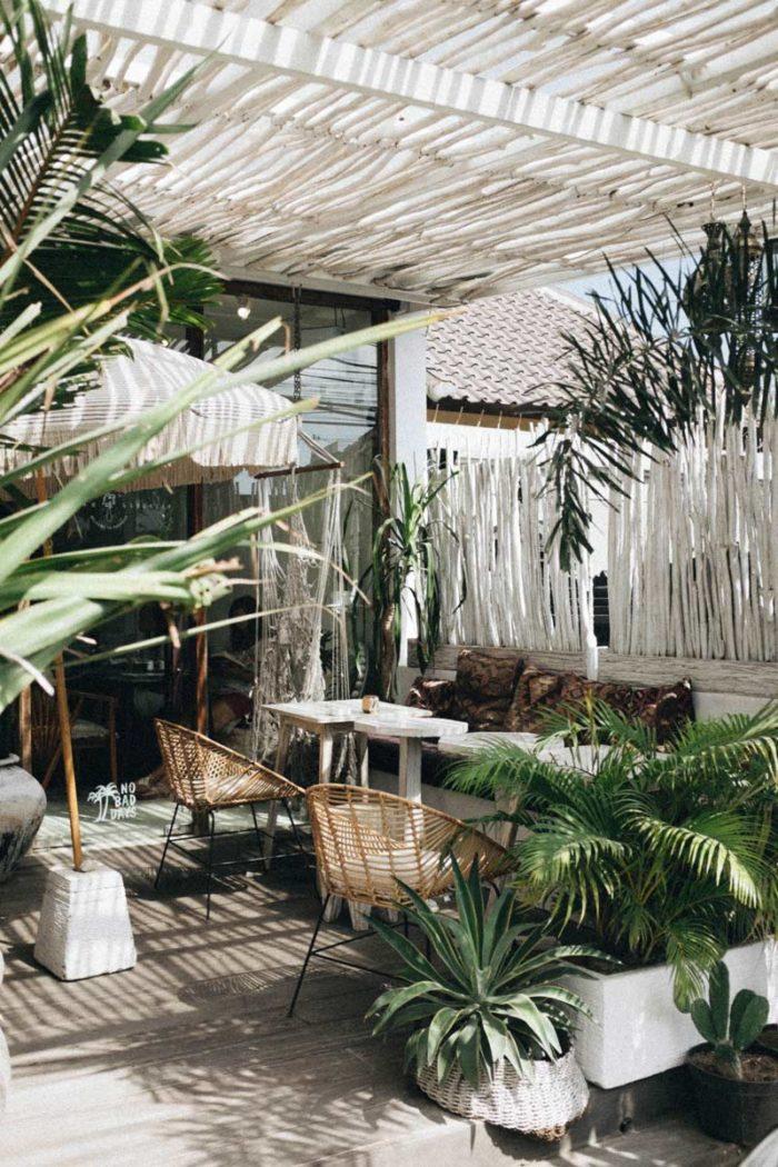 Decoración de jardines pequeños mobiliario