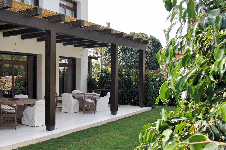 pérgolas de madera jardín y terraza