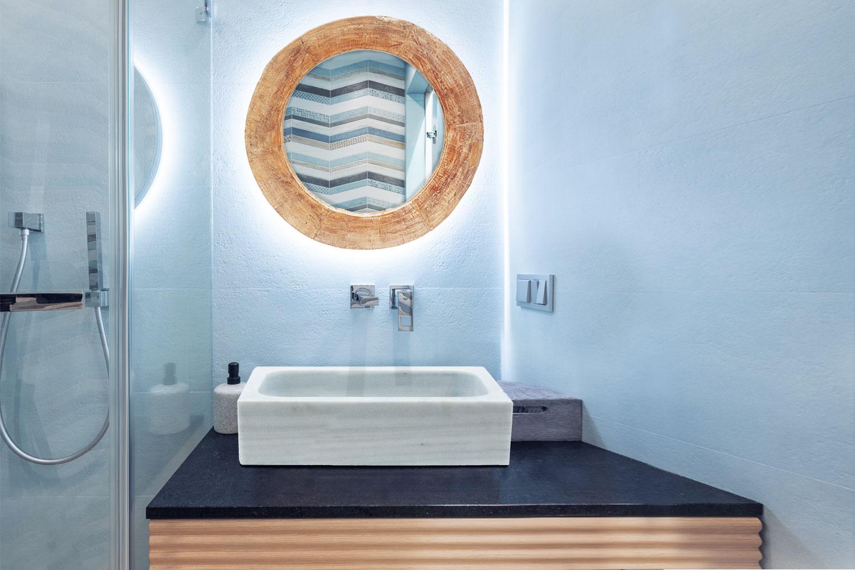 Decoración con lavabos y fregaderos de mármol